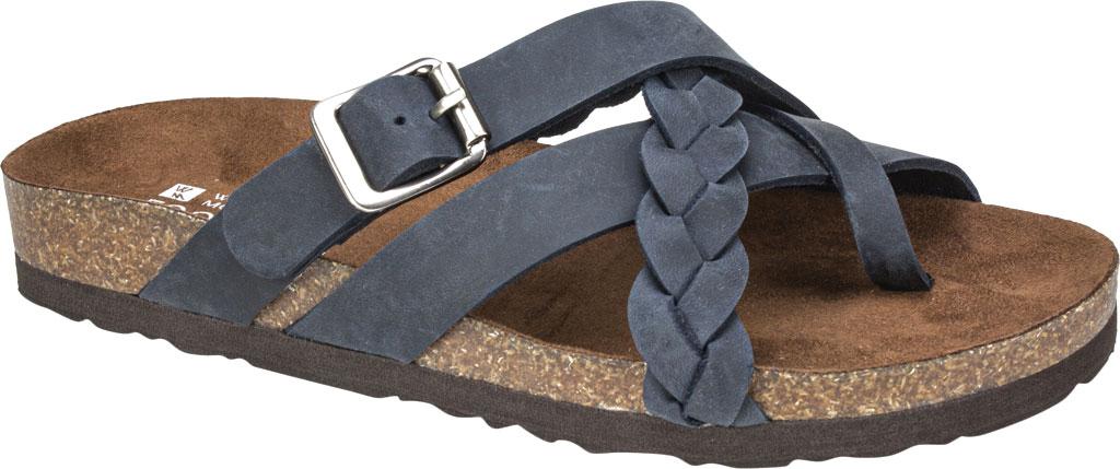 Women's White Mountain Harrington Slide, Navy Crazy Horse Leather, large, image 1