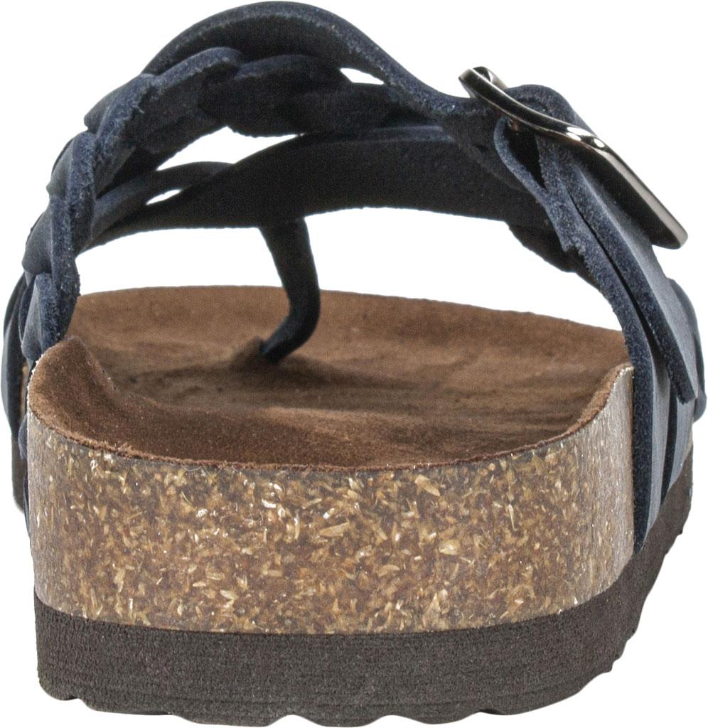 Women's White Mountain Harrington Slide, Navy Crazy Horse Leather, large, image 4