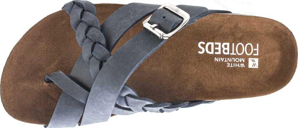 Women's White Mountain Harrington Slide, Navy Crazy Horse Leather, large, image 5