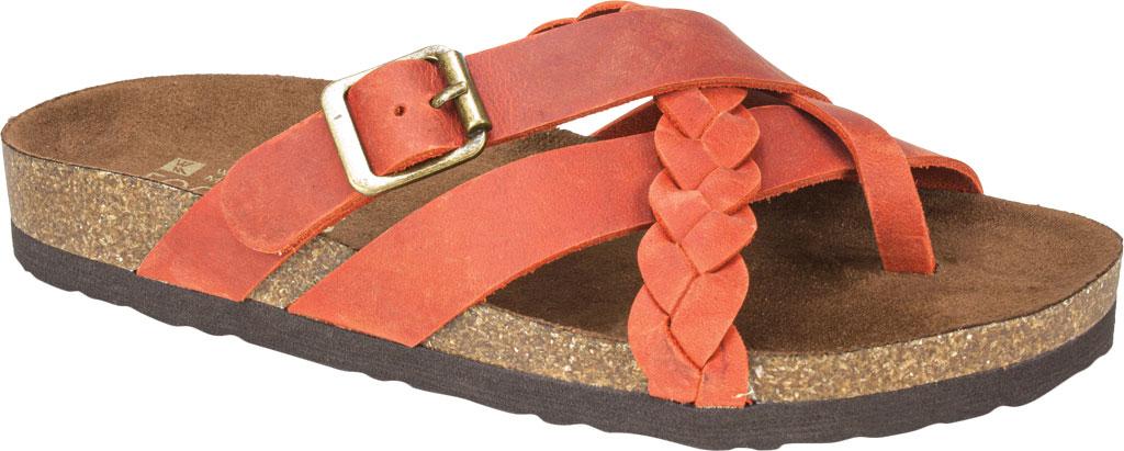 Women's White Mountain Harrington Slide, Rust Crazy Horse Leather, large, image 1