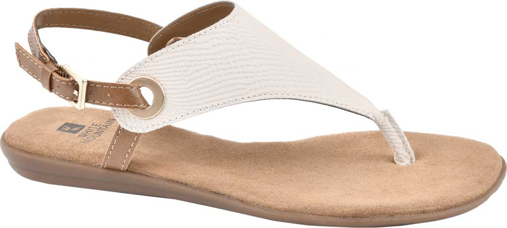 Women's White Mountain London Thong Slingback, Cream Exotic Smooth, large, image 1