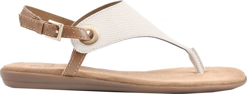 Women's White Mountain London Thong Slingback, Cream Exotic Smooth, large, image 2