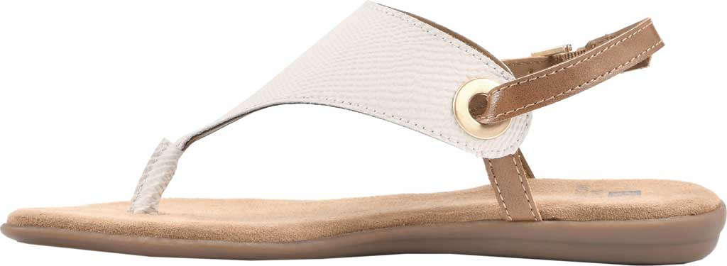 Women's White Mountain London Thong Slingback, Cream Exotic Smooth, large, image 3