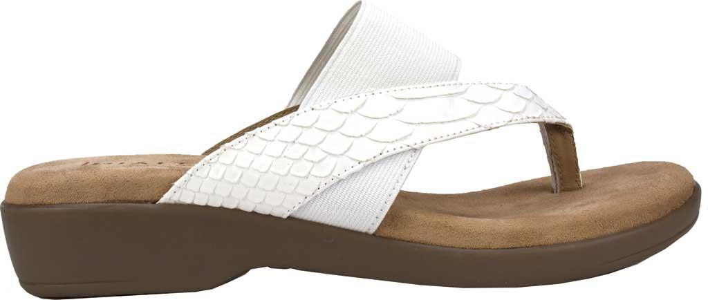 Women's Rialto Bumble Thong Wedge Sandal, White Snake Patent Polyurethane, large, image 2