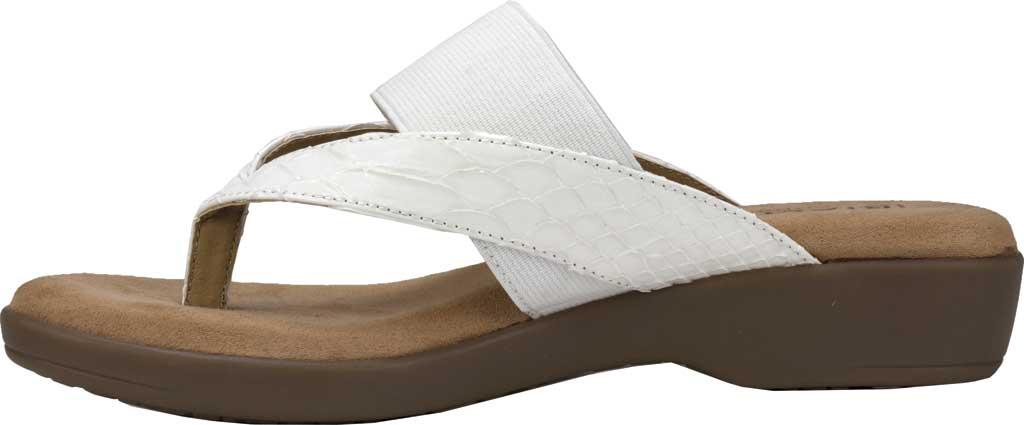 Women's Rialto Bumble Thong Wedge Sandal, White Snake Patent Polyurethane, large, image 3