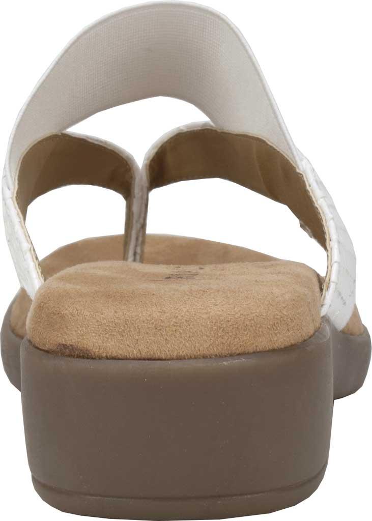 Women's Rialto Bumble Thong Wedge Sandal, White Snake Patent Polyurethane, large, image 4