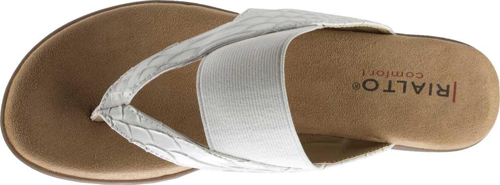 Women's Rialto Bumble Thong Wedge Sandal, White Snake Patent Polyurethane, large, image 5