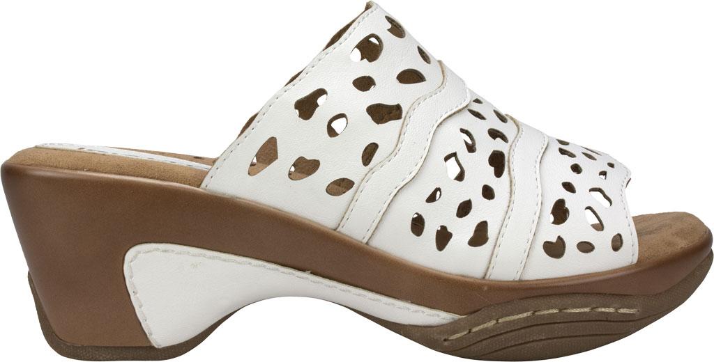 Women's Rialto Vispa Heeled Slide, White Burnished Smooth Polyurethane, large, image 2