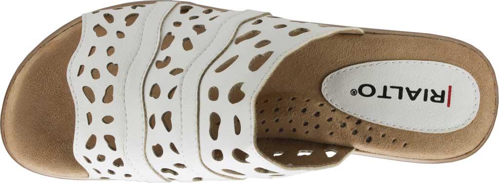 Women's Rialto Vispa Heeled Slide, White Burnished Smooth Polyurethane, large, image 5