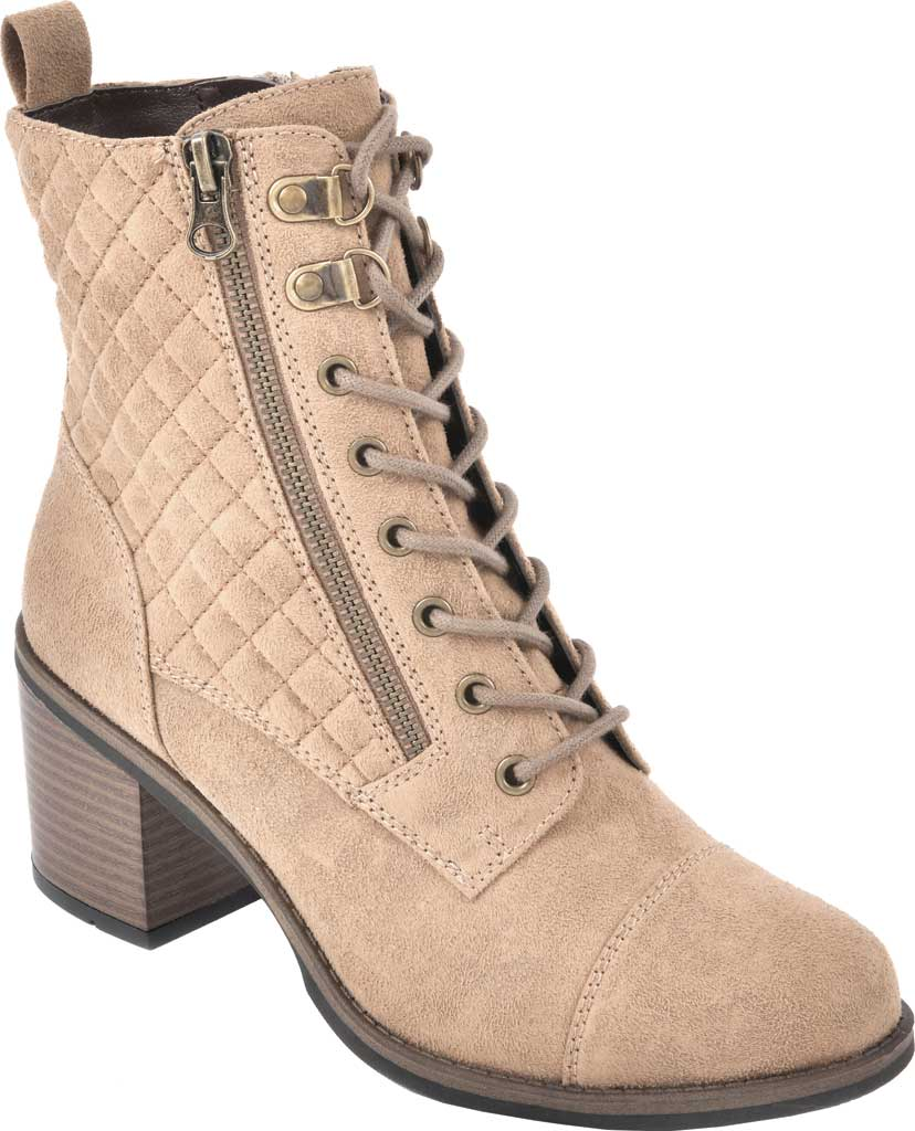 Women's White Mountain Dorsett Heeled Ankle Bootie, Chestnut Waxy Suedette, large, image 1