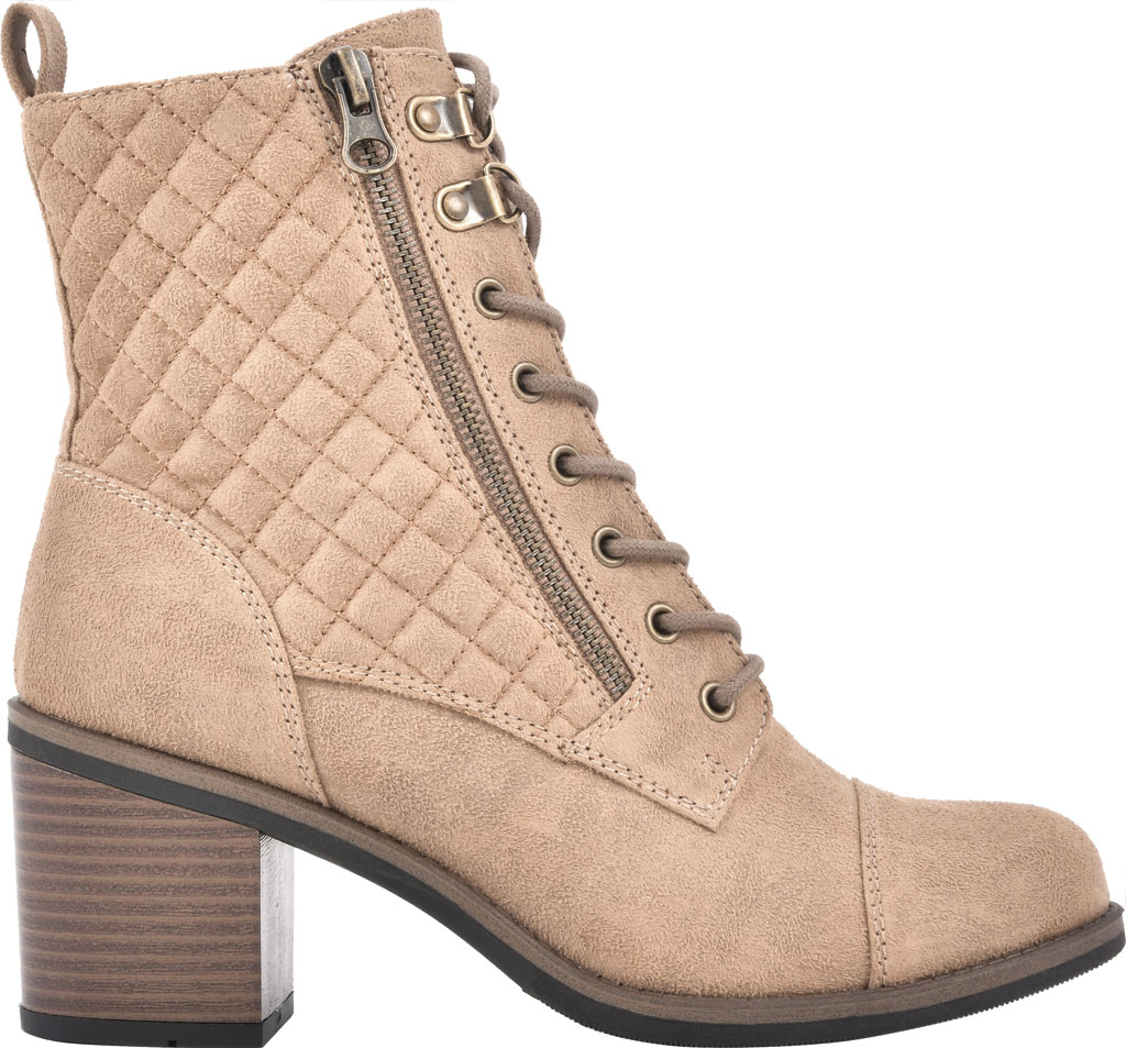 Women's White Mountain Dorsett Heeled Ankle Bootie, Chestnut Waxy Suedette, large, image 2
