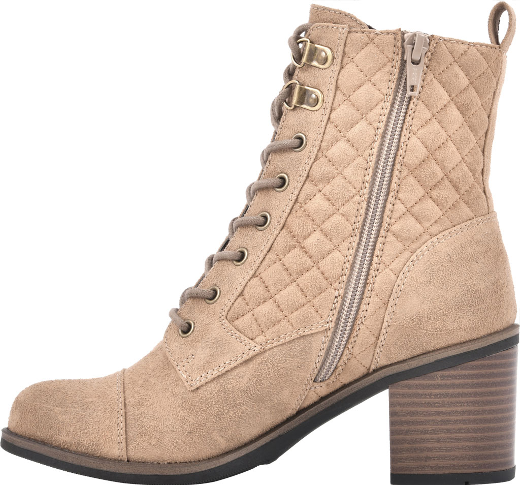 Women's White Mountain Dorsett Heeled Ankle Bootie, Chestnut Waxy Suedette, large, image 3