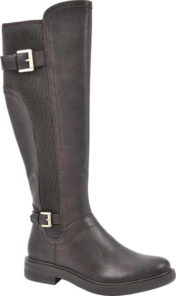 Women's White Mountain Meditate Knee High Boot, Dark Brown Smooth Tumbled Polyurethane, large, image 1