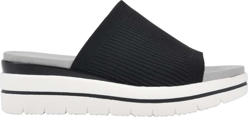 Women's Cliffs by White Mountain Typhoon Knit Wedge Slide, Black Knit Fabric, large, image 2