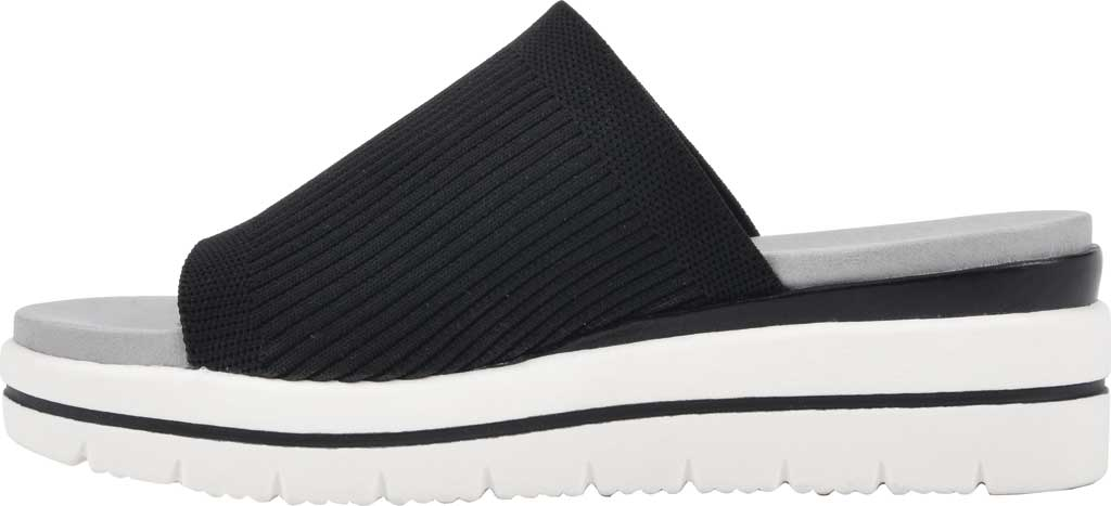 Women's Cliffs by White Mountain Typhoon Knit Wedge Slide, Black Knit Fabric, large, image 3