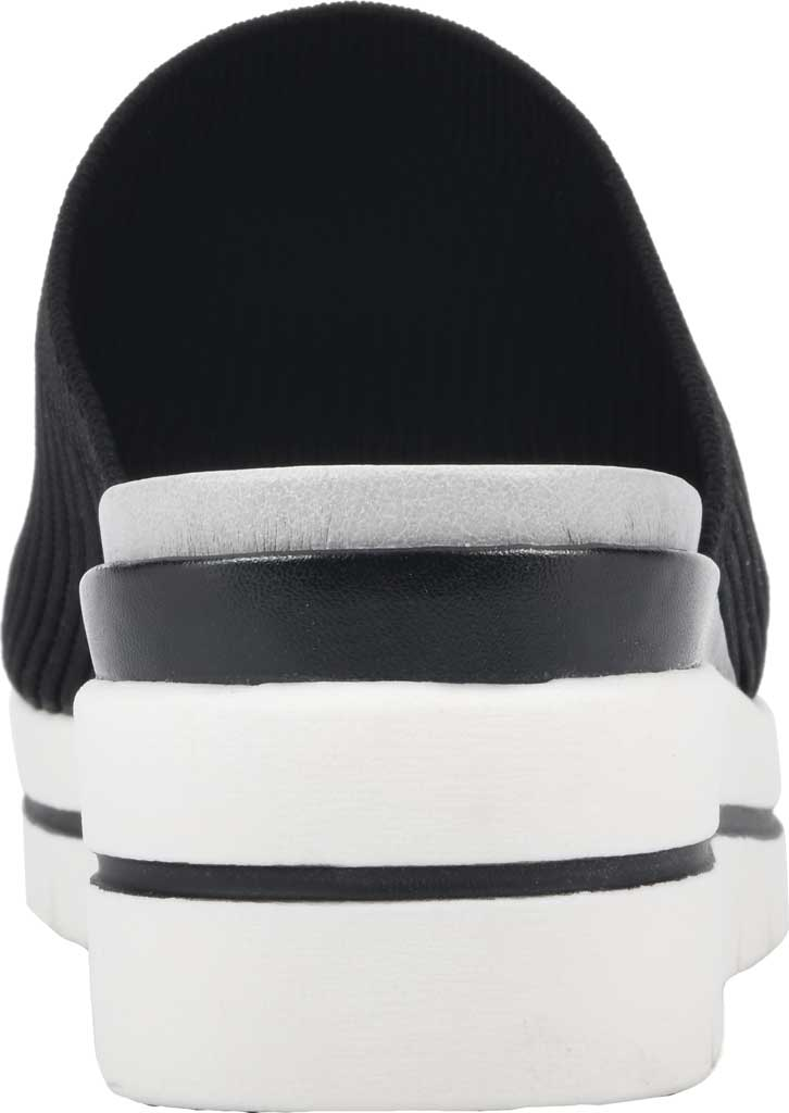 Women's Cliffs by White Mountain Typhoon Knit Wedge Slide, Black Knit Fabric, large, image 4