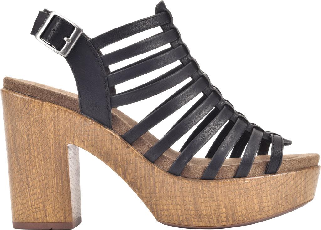 Women's White Mountain Astonish Strappy Heeled Sandal, Black Faux Burnished Leather, large, image 2