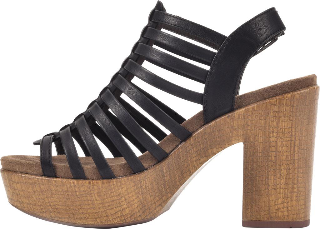 Women's White Mountain Astonish Strappy Heeled Sandal, Black Faux Burnished Leather, large, image 3