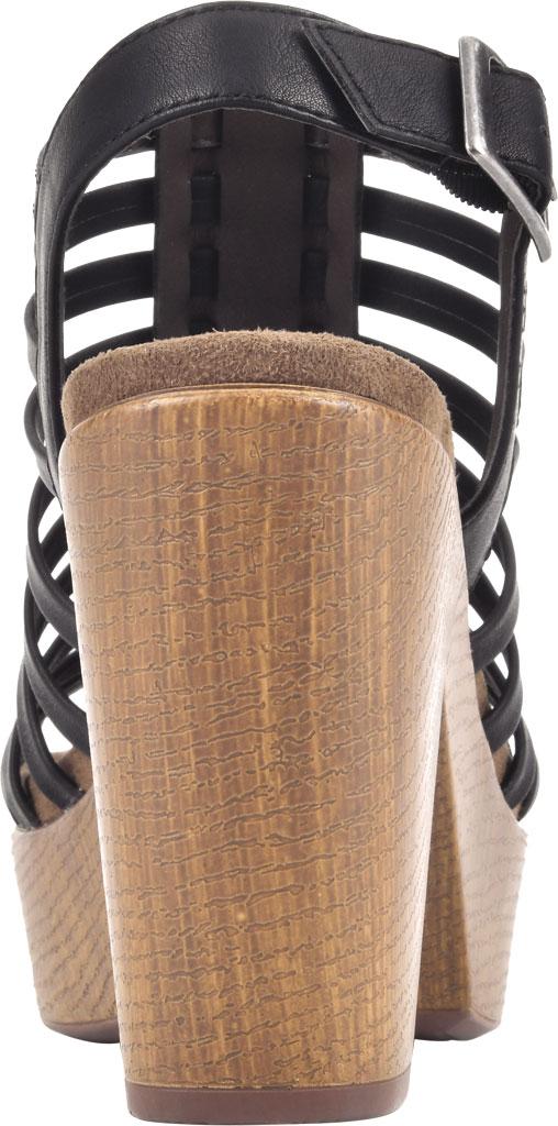 Women's White Mountain Astonish Strappy Heeled Sandal, Black Faux Burnished Leather, large, image 4