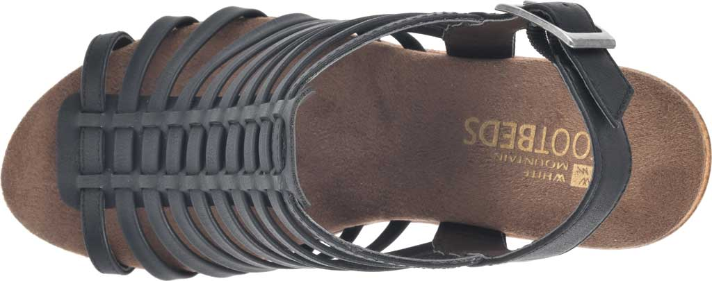 Women's White Mountain Astonish Strappy Heeled Sandal, Black Faux Burnished Leather, large, image 5