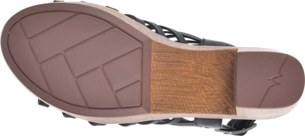 Women's White Mountain Astonish Strappy Heeled Sandal, Black Faux Burnished Leather, large, image 6