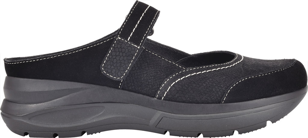 Women's White Mountain Fit Platform Mary Jane, Black Win Suede/Jervis Suede, large, image 2
