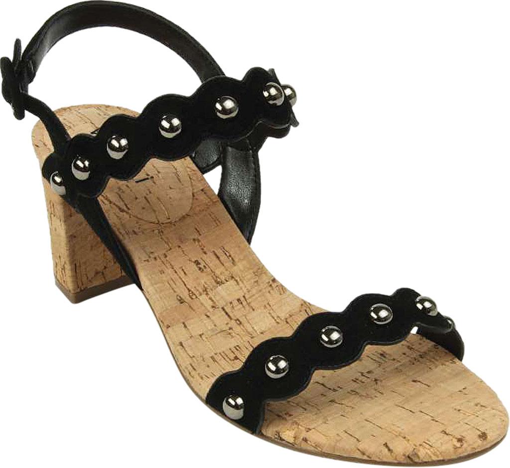 Women's VANELi Mavis Heeled Slingback Sandal, Black Suede, large, image 1