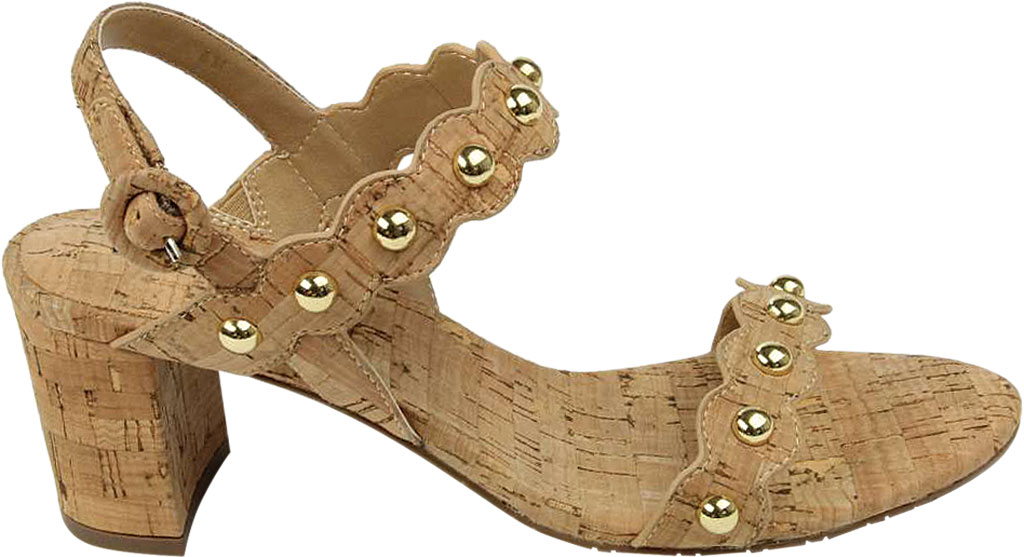 Women's VANELi Mavis Heeled Slingback Sandal, Natural Cork, large, image 2