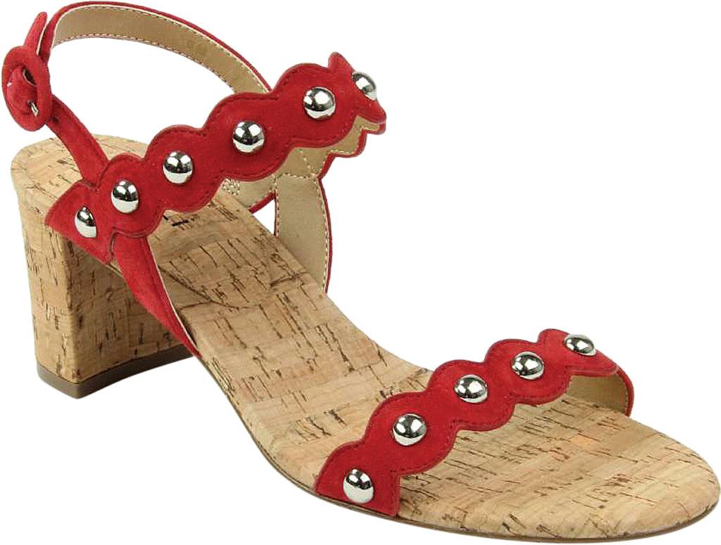 Women's VANELi Mavis Heeled Slingback Sandal, Red Suede, large, image 1