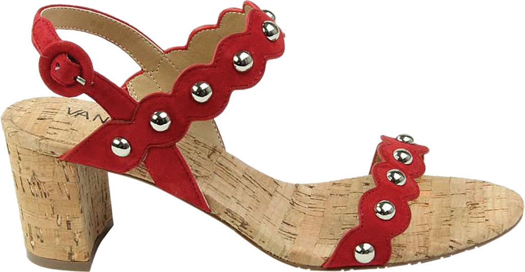 Women's VANELi Mavis Heeled Slingback Sandal, Red Suede, large, image 2