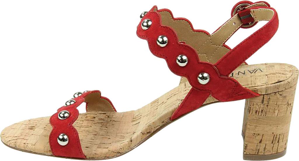 Women's VANELi Mavis Heeled Slingback Sandal, Red Suede, large, image 3