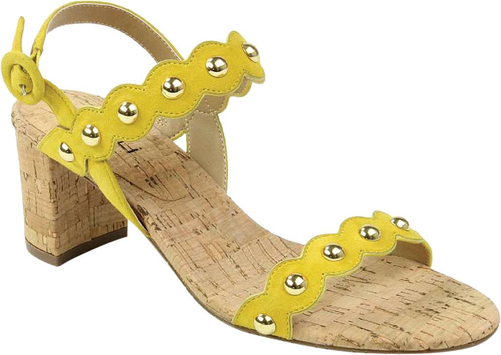 Women's VANELi Mavis Heeled Slingback Sandal, Yellow Suede, large, image 1