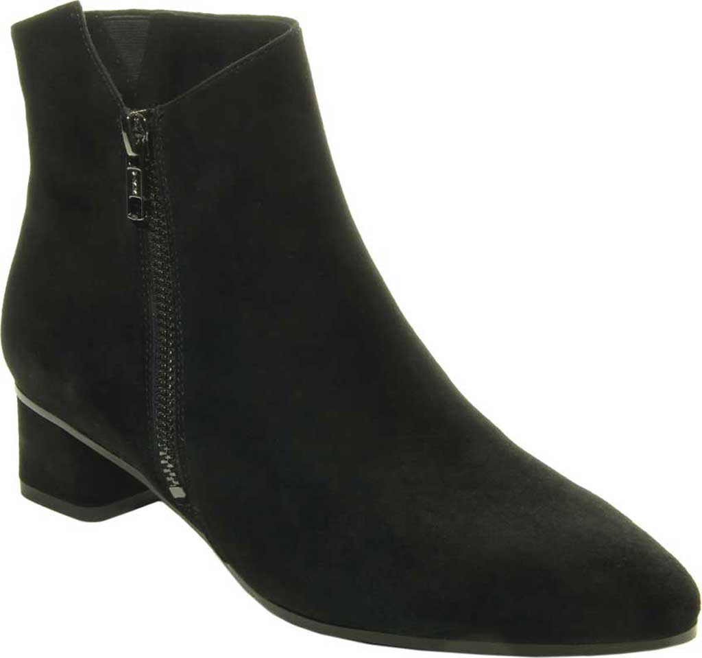 Women's VANELi Liking Pointed Toe Ankle Bootie, Black Suede, large, image 1