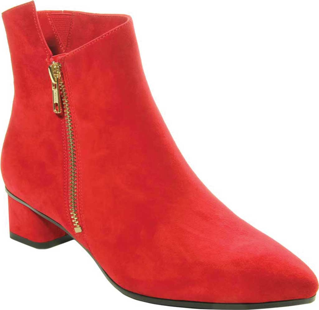 Women's VANELi Liking Pointed Toe Ankle Bootie, Red Suede, large, image 1