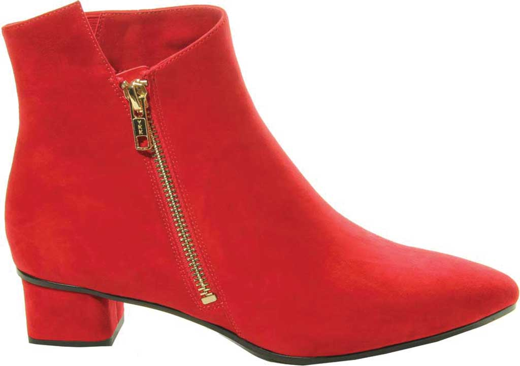 Women's VANELi Liking Pointed Toe Ankle Bootie, Red Suede, large, image 2