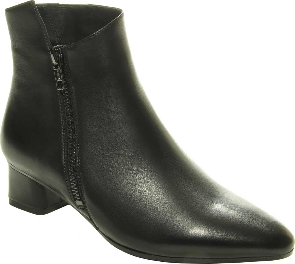Women's VANELi Liking Pointed Toe Ankle Bootie, Black Nappa Leather, large, image 1