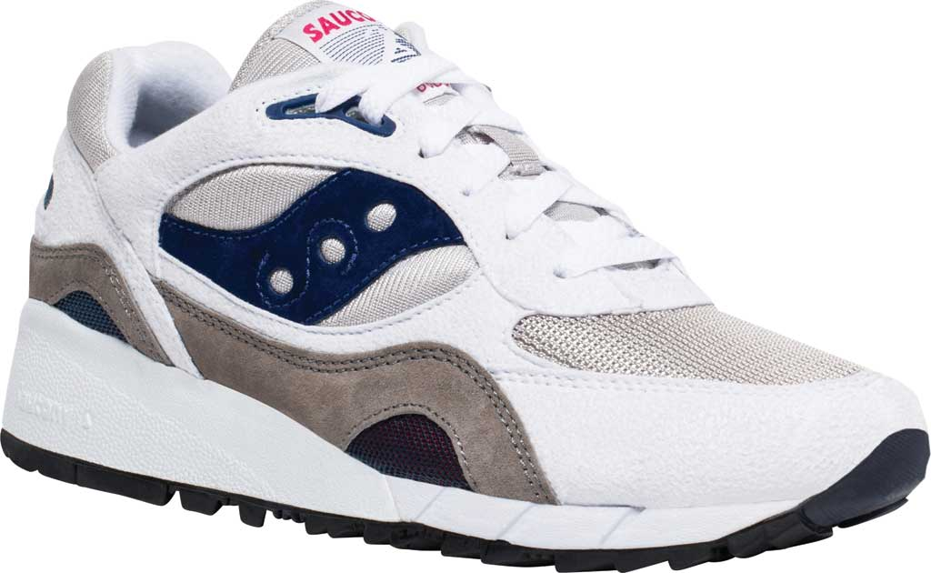 Men's Saucony Originals Shadow 6000 Sneaker, White/Grey/Navy, large, image 1
