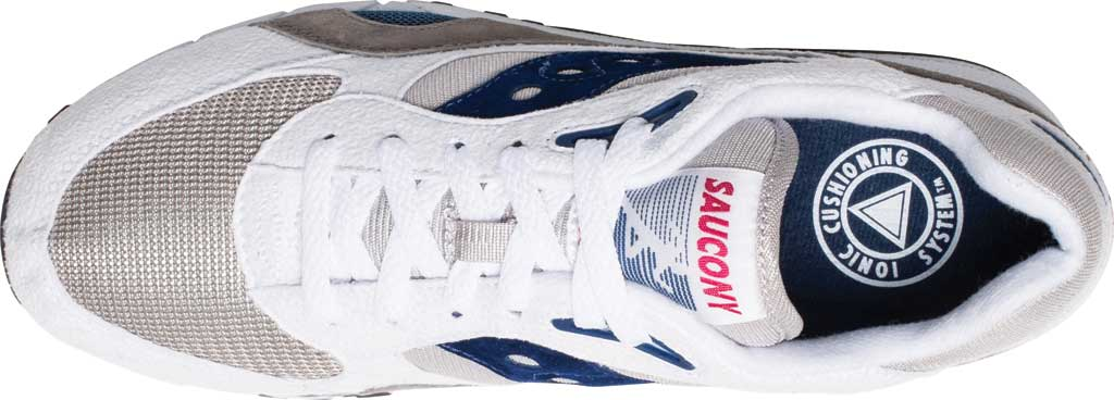 Men's Saucony Originals Shadow 6000 Sneaker, White/Grey/Navy, large, image 3