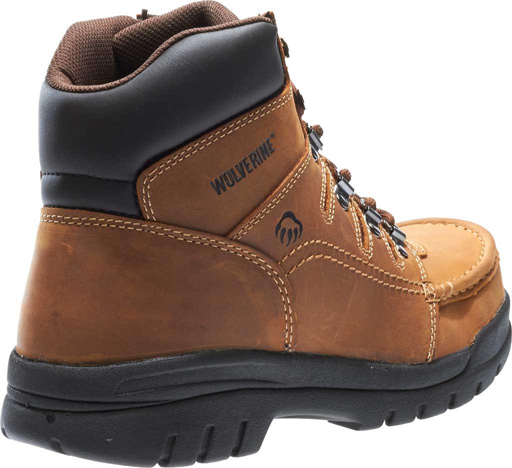 "Men's Wolverine Potomac 6"" English Moc Steel Toe EH Boot, Brown, large, image 4"