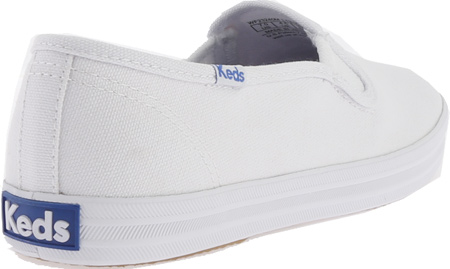 Women's Keds Champion Slip On, White Canvas, large, image 4