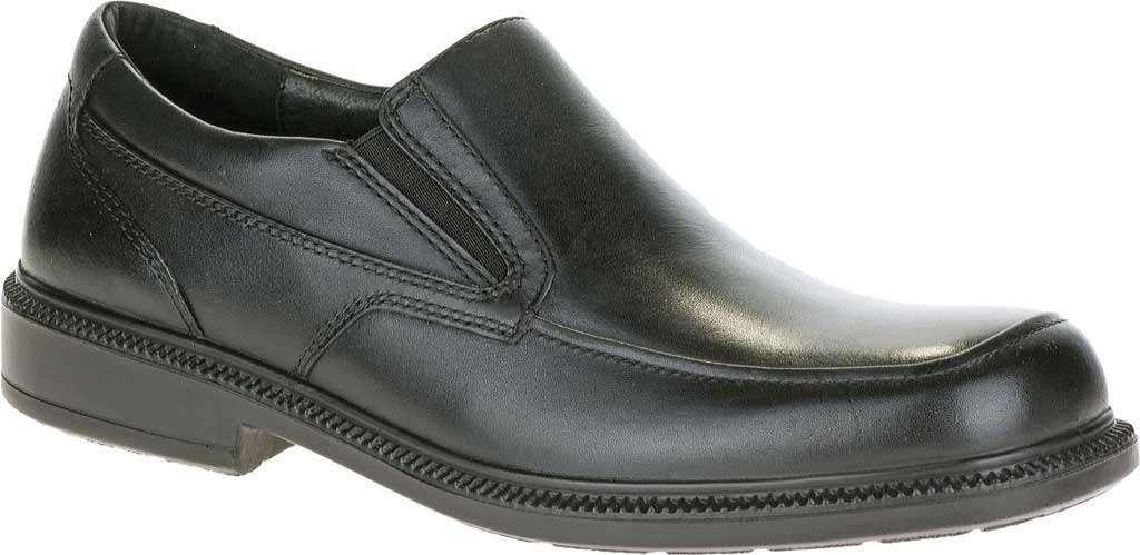 Men's Hush Puppies Leverage, Black Leather, large, image 1