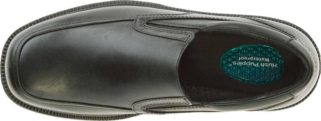 Men's Hush Puppies Leverage, Black Leather, large, image 5