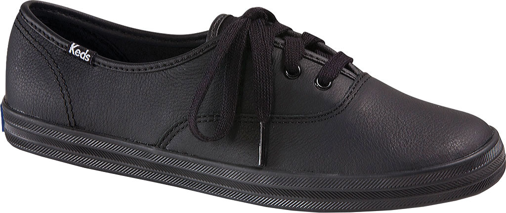 Women's Keds Champion Oxford Leather Sneaker, Black, large, image 1