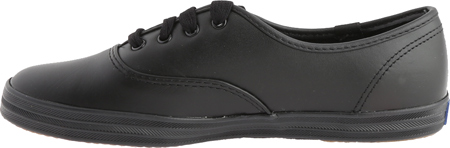 Women's Keds Champion Oxford Leather Sneaker, Black, large, image 3
