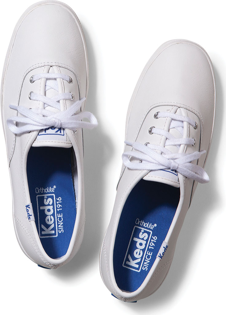 Women's Keds Champion Oxford Leather Sneaker, White, large, image 4