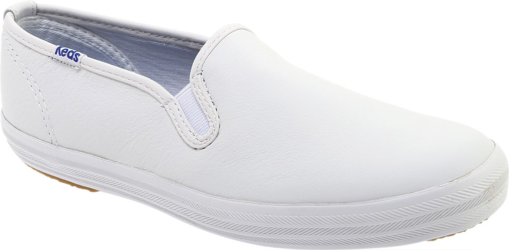 Women's Keds Champion Slip On Leather, White, large, image 1