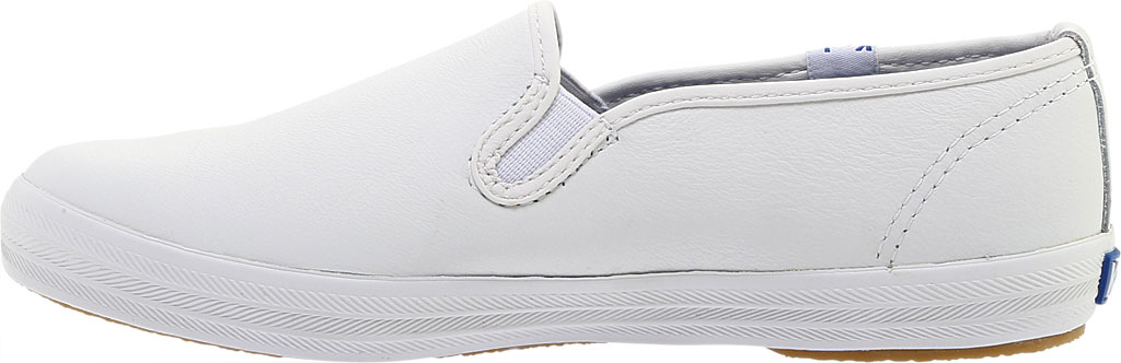 Women's Keds Champion Slip On Leather, White, large, image 3