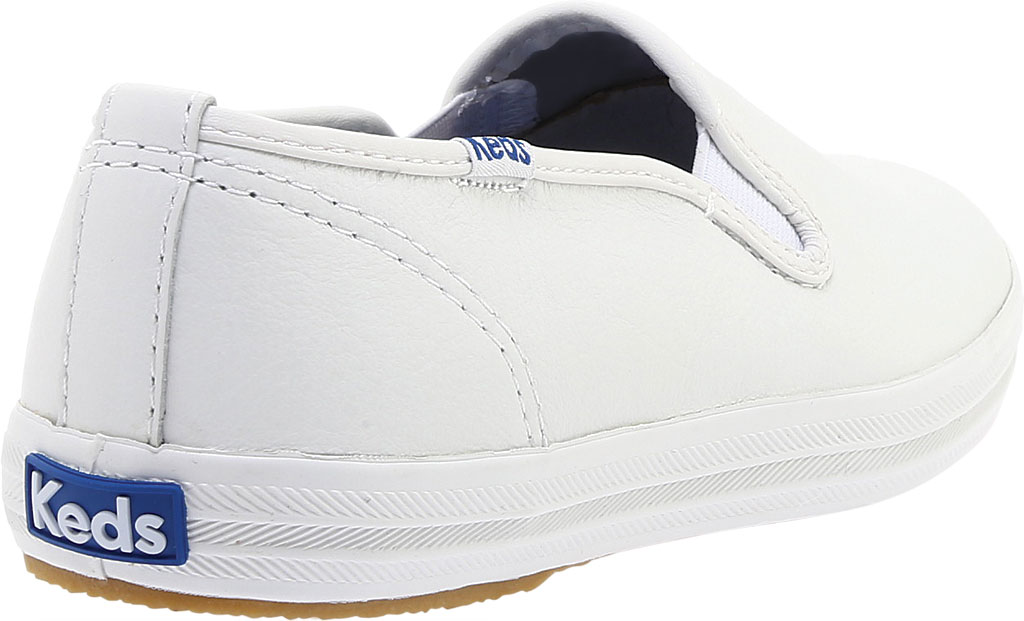 Women's Keds Champion Slip On Leather, White, large, image 4