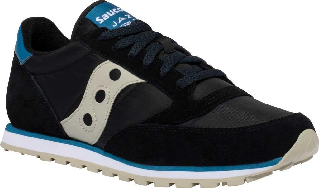 Men's Saucony Originals Jazz Low Pro Sneaker, Black/Cream Nylon/Suede, large, image 1