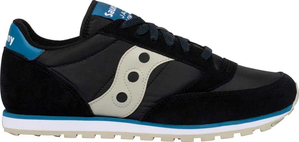 Men's Saucony Originals Jazz Low Pro Sneaker, Black/Cream Nylon/Suede, large, image 2